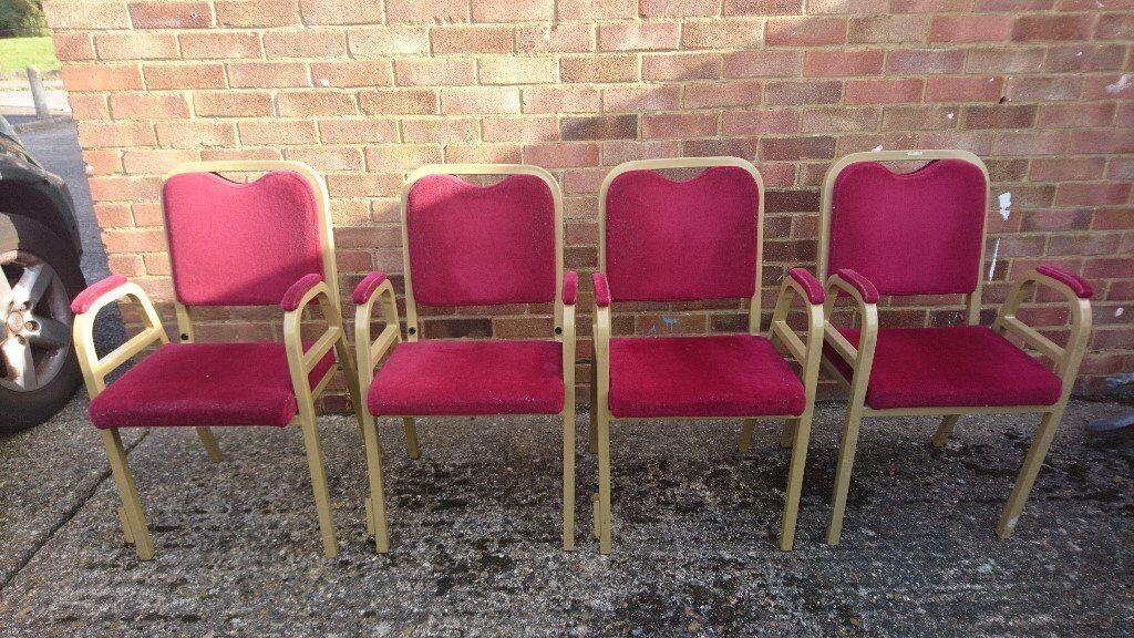 Four Vintage Stackable Chairs
