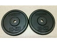 Domyos 10Kg x 4 cast iron weight plates last lot left
