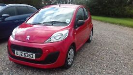 2013 Peugeot 107 Access, one older owner, very low miles, very good condition, clear history.