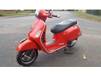 VESPA GTS 125 2013 IMMACUALTE BIKE, NO DEP FINANCE,CARD PAYMENT & NATIONWIDE DELIVERY TO YOUR DOOR!