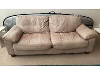 Free to collect. 2 large settees and 1 armchair