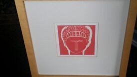 2x wooden framed Modigliani prints