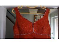 Burnt orange bridesmaid / evening / prom dress. Size 12