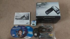 Samsung VP-MX 10 camcorder. 34X optical zoom. 4 batteries, 2 chargers.