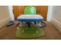 Fisher Price - Healthy Care Booster Seat, Green & Blue