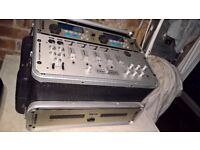 Kam Twin Cd with Kam mixer in Flight Case