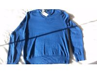 Ralph Lauren Polo Blue Cotton Jumper - NEW