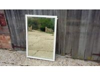 Very Large Vintage Painted Shabby Chic Mirror.