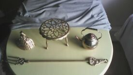 4 old brass ornaments