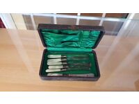 """Abbey"" Set of Six Cutlery in Good Condition"