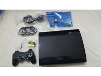 PS3 Super SLIM 500GB console with 6 Games and controller