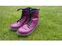 Kids Purple Doc Martin Boots (size2)