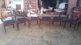 Mahogany Dining Chairs - Set of 6