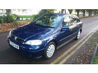 2003 Vauxhall Astra Club 8 v, 5 Door Hatchback, Petrol, FSH , 2 Owners , Manual.
