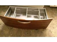 Cooke & Lewis stainless steel drawers