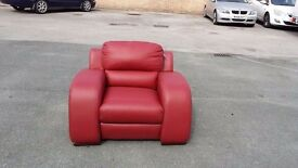 New CSL Metis red leather designer armchair