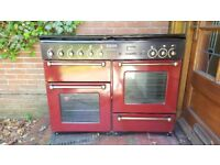 Range Master Double Oven. Gas. Colour Red.