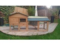 Rabbit Hutch with Run 6ft x1ftx2ft