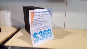 Brand New HP Prodesk 400 G25 - 3 Years Warranty - 3.33Ghz Intel G3260 - 4Gb - 500Gb
