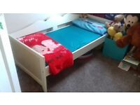 Ikea Toddler Bed with adjustable bed guard-size in cms 166 L x 77 W
