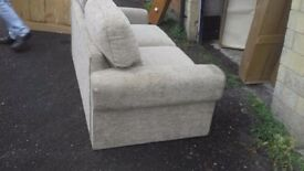 Large sofabed /sofa cream good condition