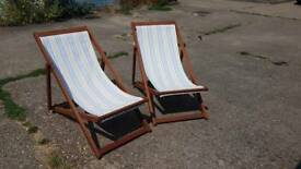 Beach chairs x2