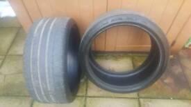 2 x Michelin pilot 265 x 35 x 19 tyres