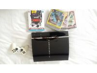 Playstation 3 ( fat) + games + blu ray + controller