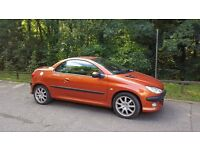 Peugeot 206CC (Cabriolet), 2.0, SE, VERY LOW mileage, good condition