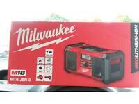 Milwaukee Radio Brand New