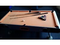 Funky Pool Table with build in speakers and lights. A lot of fun.