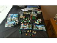 Various lego sets complete, police swamp, jurassic world and more.