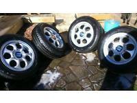 Seat toledo alloys new Bridgestone tyres