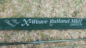 Flyrod Rutland Mark 2 X Weave Two piece 10ft Rod Bob Church
