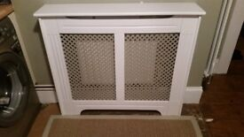 Finished in Satin white, a lovely example of a classic Radiator cover
