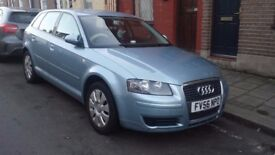 AUDI A3 2.0 TDI 5 DOOR HATCHBACK AUTOMATIC COMES WITH V5, LEATHER INTERIOR.