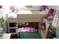 Stompa Mid Sleeper Bed White