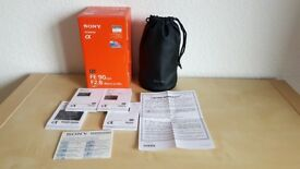 Sony FE 90mm F2.8 Macro G OSS (SEL90M28G) BRILLIANT condition -- Full BOX -- Looks and works as new
