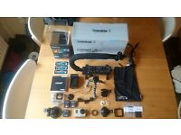 Gopro Hero 3+ Black bundle + 32Gb SD Card, 3 batteries, Mounts, Accessories GREAT CHRISTMAS GIFT