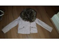 Girls faux leather jacket