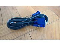 BRAND NEW DELL VGA CABLE FOR PC SCREEN MONITOR