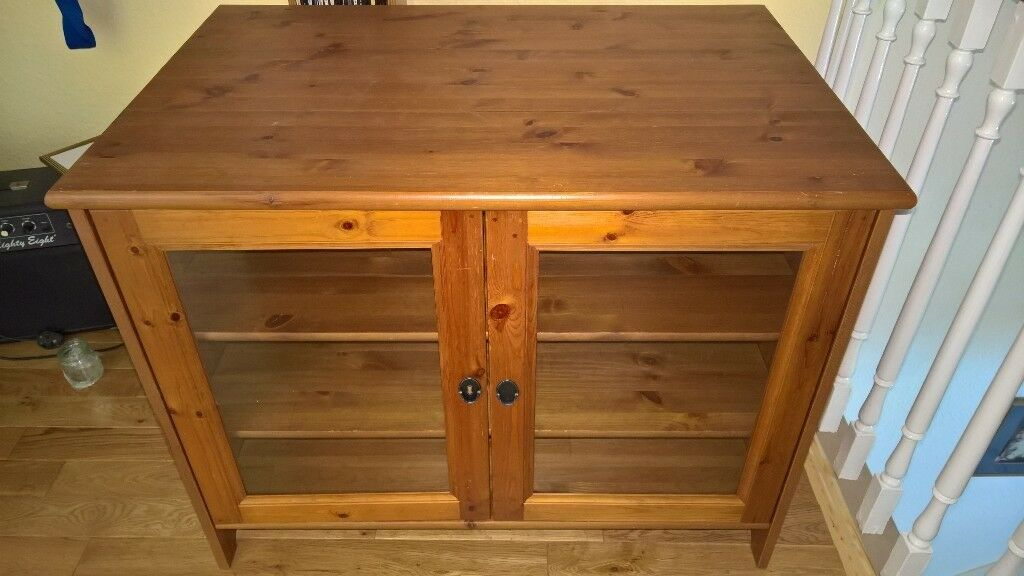 Ikea leksvik wood and glass cabinet in hornsea east yorkshire