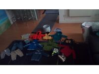 Bby boy new/used bundle clothes 3-9 months plus new two pack of Dr Brown's anticolic bootles