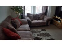 3 seater Sofabed+ 2 seater sofa +storage box