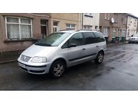6 speed Diesel 7 Seats Volkswagen Sharan Tdi 53 reg with tow bar ,1st to view will buy ,px welocme