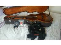 faith mercury sunburst parlour scoop guitar baggs lyric extras brand new unused cost £1200 bargain !