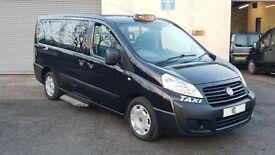 2010 10 REG FIAT SCUDO 2.0 PEUGEOT EXPERT CITROEN DISPATCH E7 EURO CAB TAXI MINIBUS IN BLACK LWB
