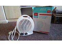 Portable Fan Heater with Thermostat Temperature, Argos