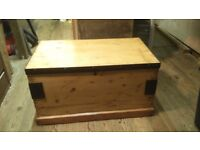 Lovely Vintage Pine Chest/Coffee Table / Toy Box / Trunk