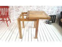 Square Leg Extending Rustic Farmhouse Dining Kitchen Table 2-4 Persons Petite